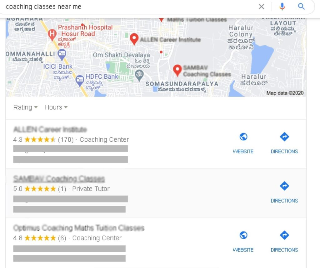 This image is example of locating how to promote educational institute